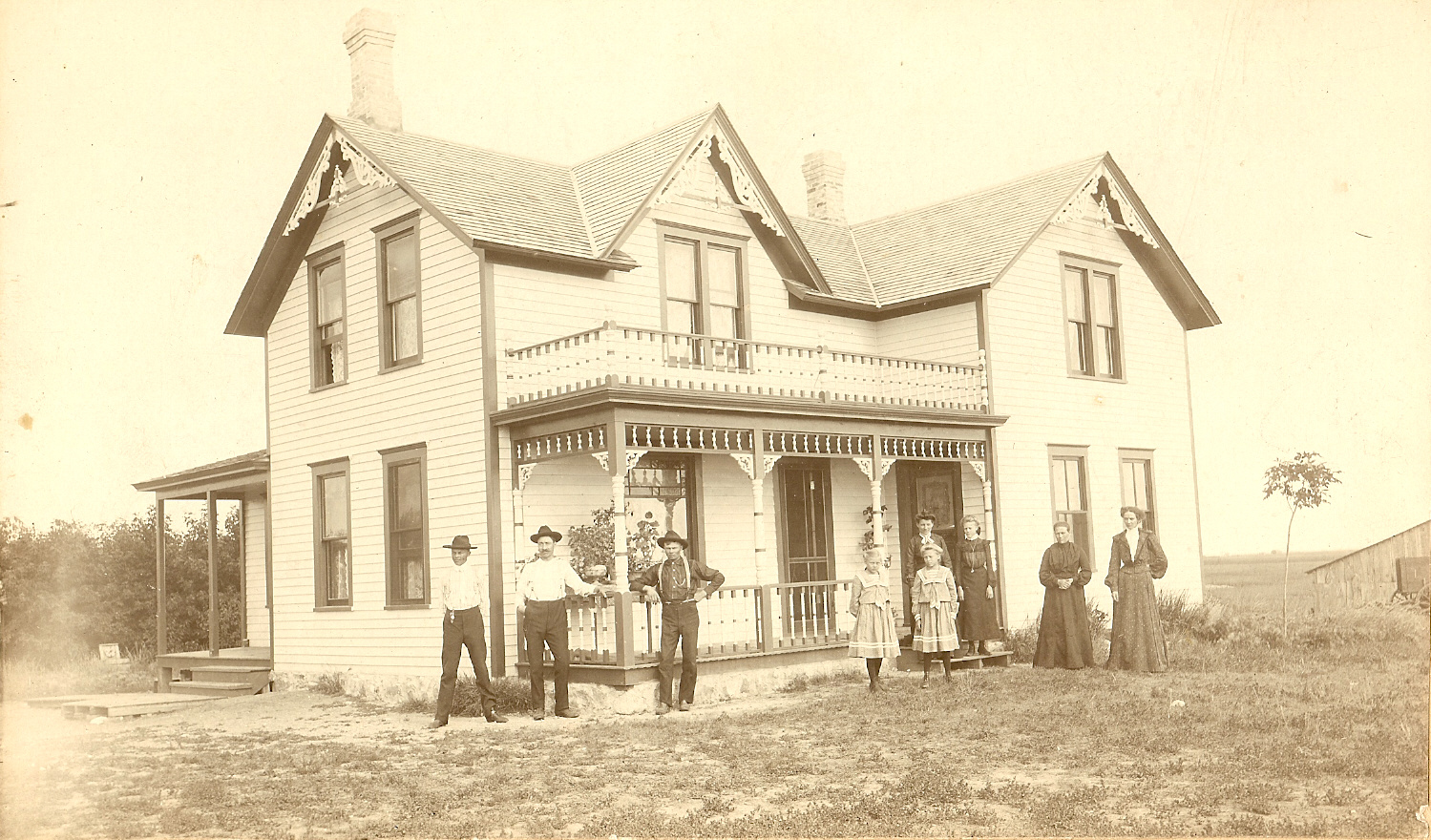 Pictures of 1900 farm houses